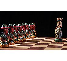 King vs Pawns Photographic Print