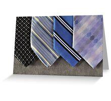Blue Ties Greeting Card
