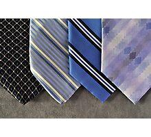 Blue Ties Photographic Print
