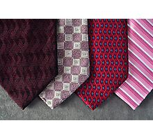 Pink Ties Photographic Print