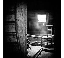 Church attic. Photographic Print