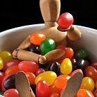 Woodman in a jelly bean bowl by alanbrito