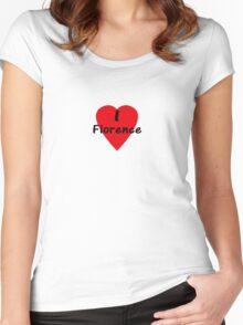 I Love Florence - I Heart Firenze T-Shirt Women's Fitted Scoop T-Shirt