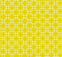 Yellow retro network squares by o2creativeNY
