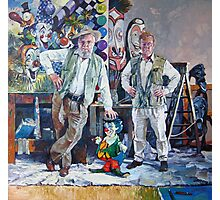 Send in the Clowns - portrait of the artist & his father Photographic Print