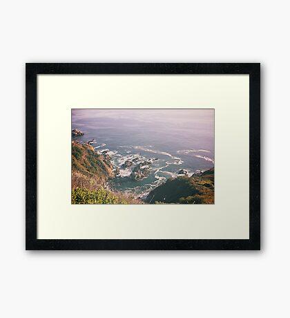 California waves Framed Print