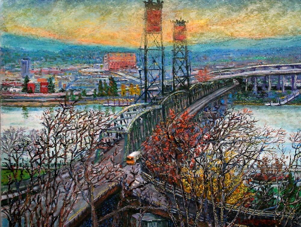 Portland's Hawthrone Bridge by sandralongmore