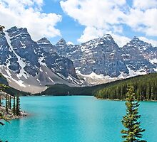 Moraine Lake Valley of the Ten Peaks by hummingbirds