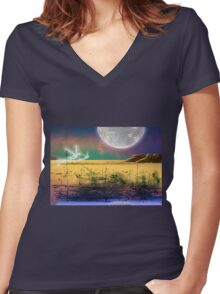 The Plains of Silda Women's Fitted V-Neck T-Shirt