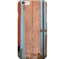 Faces on the blue door iPhone Case/Skin