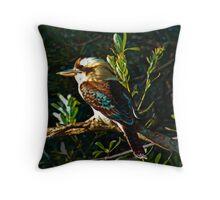 Laughing Kookaburra Throw Pillow