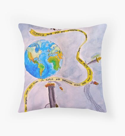 Peace: The Best Defense Throw Pillow