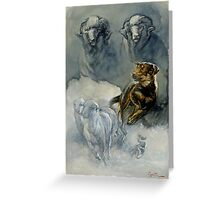 Young Working Kelpie Pup - montage Greeting Card