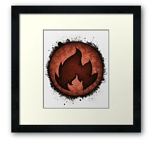 The Fire Types Framed Print