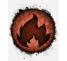 The Fire Types Photographic Print