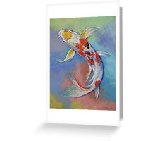 Butterfly Koi Fish Greeting Card