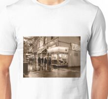 Pellegrinis Night Rain Sepia Unisex T-Shirt