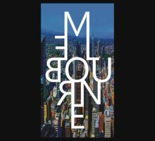 Melbourne - Mirror Text City View Kids Tee