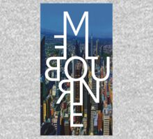 Melbourne - Mirror Text City View One Piece - Short Sleeve