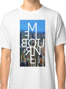 Melbourne - Mirror Text City View Classic T-Shirt