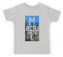 Melbourne - Mirror Text City View Kids Tee