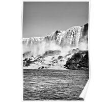 American Falls Black & White Poster