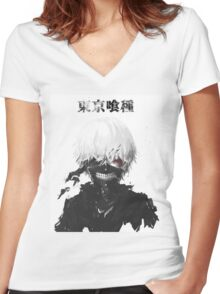 Anime: Tokyo Ghoul Women's Fitted V-Neck T-Shirt