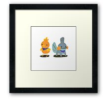 Torchic & Mudkip: Blue Rescue Team Framed Print