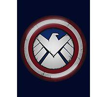 The Captain's S.H.I.E.L.D. Photographic Print