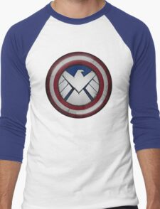 The Captain's S.H.I.E.L.D. Men's Baseball ¾ T-Shirt