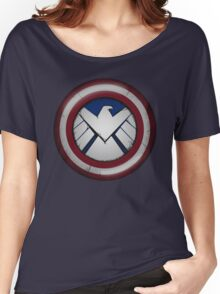 The Captain's S.H.I.E.L.D. Women's Relaxed Fit T-Shirt