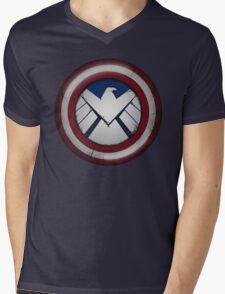 The Captain's S.H.I.E.L.D. Mens V-Neck T-Shirt