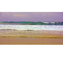 What colour is the sea? Photographic Print