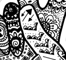 Peace Sign Zentangle Sticker