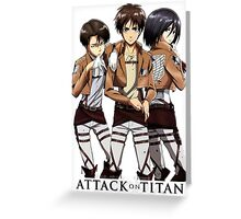 Anime: Shingeki no Kyojin Greeting Card