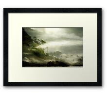 The Journey. Only one possible Arcadia. Framed Print