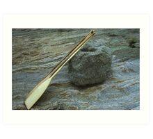 canoe paddles Art Print