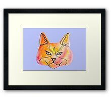 Warm Watercolor Kitty Framed Print