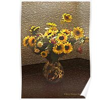Flowers in Vase Poster