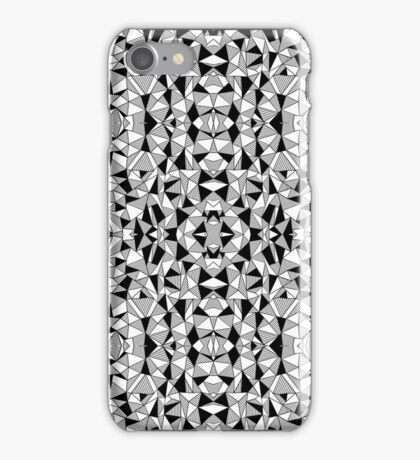 Ab Lines With Black Blocks Tile iPhone Case/Skin