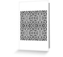 Ab Lines With Black Blocks Tile Greeting Card