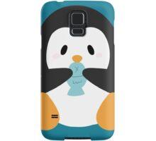 Penguin eating fish Samsung Galaxy Case/Skin