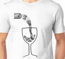 Wine Glass Zentangle Unisex T-Shirt