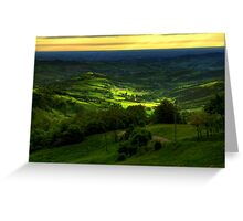 All'orizzonte...non è il mare! E' la pianura padana , vista da Ciano di Zocca - ( modena Italy )_0911_ Greeting Card