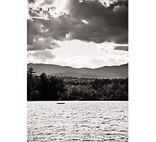 Spring in NH Landscape BW Photographic Print