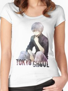 Anime: TOKYO GHOUL - Kaneki Women's Fitted Scoop T-Shirt