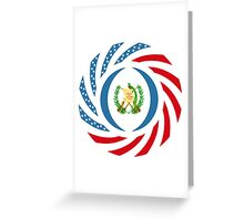 Guatemalan American Multinational Patriot Flag Series Greeting Card