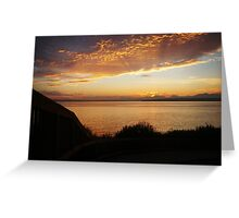 Radiant Seattle Beach Sunset Greeting Card