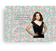 Tina Fey on Beauty Canvas Print