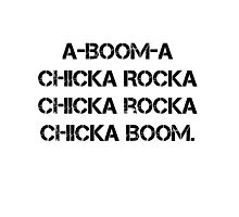 Boom Chicka Boom Grunge Girl Scout Campfire Song Photographic Print